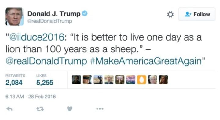 When a candidate, looks like a fascist…